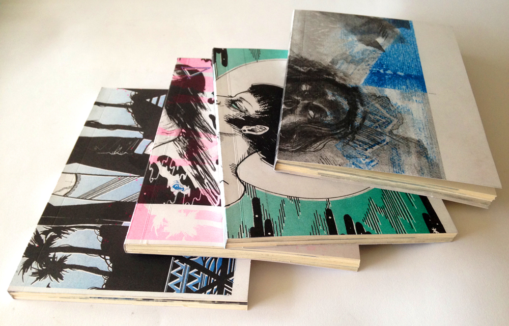 Hand-bound Notebooks from Scrap Paper