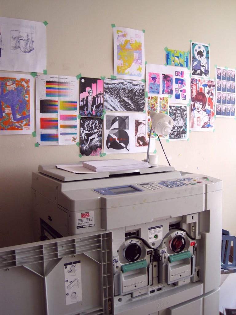 The risograph at pindot press