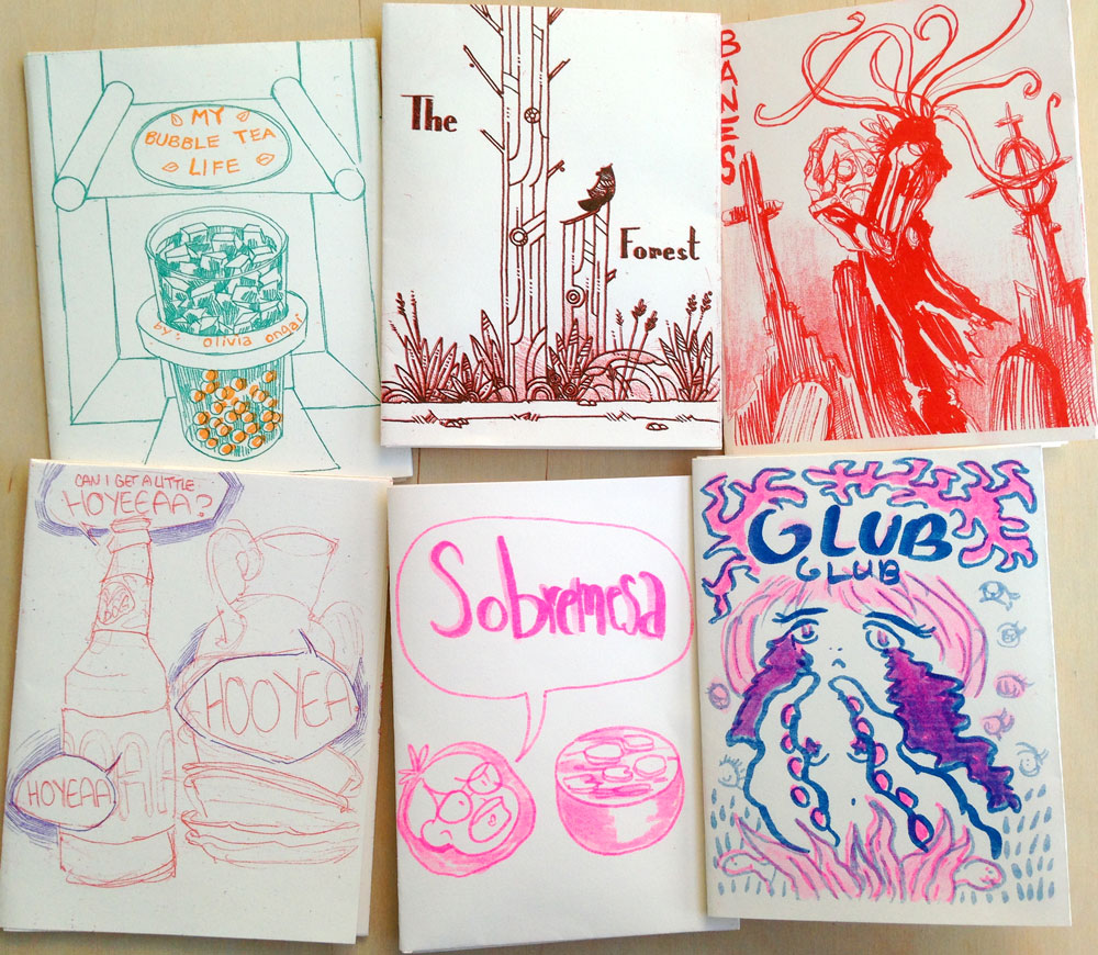 One Page Risograph Zines!