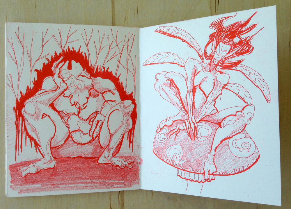 Pages from Christie Adams' zine