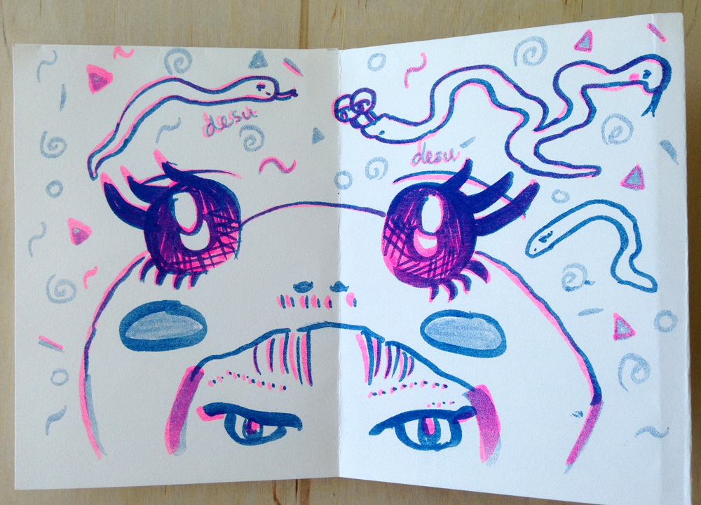 "Pages from Mimi Xuan's zine, ""Glub Glub"""